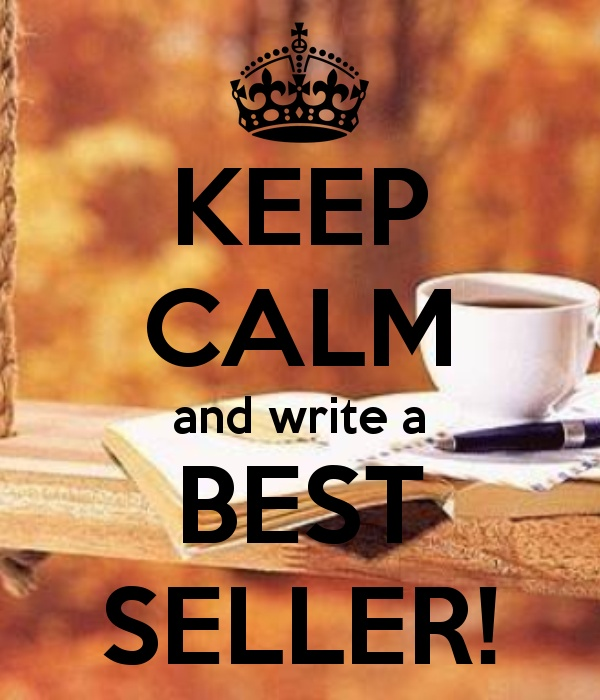 #3 Bucket List:  Write a book, get it published and have it become a best-seller.