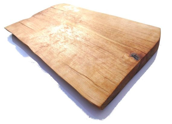 Serving / cutting board Full cross section from Single piece of wood serving plate