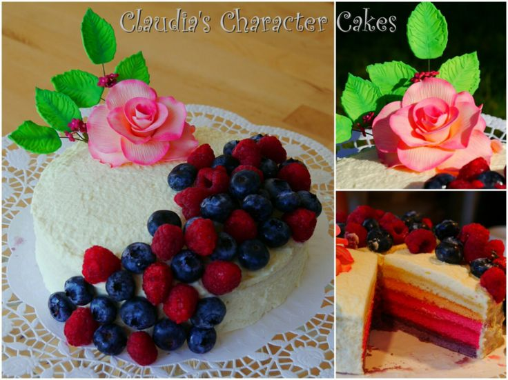 Beeren Ombre Torte | Berries Ombre Cake
