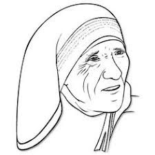 Image result for beautiful colour drawing of mother teresa