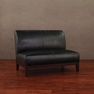 Cole/ Cleo Black Leather Loveseat | Overstock.com Shopping - Great Deals on Sofas & Loveseats