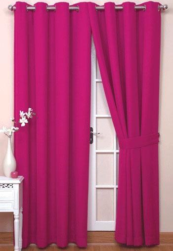 Hot Pink Eyelet Curtains