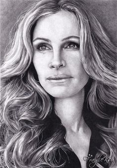 Julia Roberts by ~FragileKsu on deviantART | First pinned to Celebrity Art Board here- http://pinterest.com/fairbanksgrafix/celebrity-art/ #Art #CelebrityArt