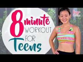 8-Minute Workout for Teens (Back-to-School) | No Equipment | Joanna Soh – YouTube