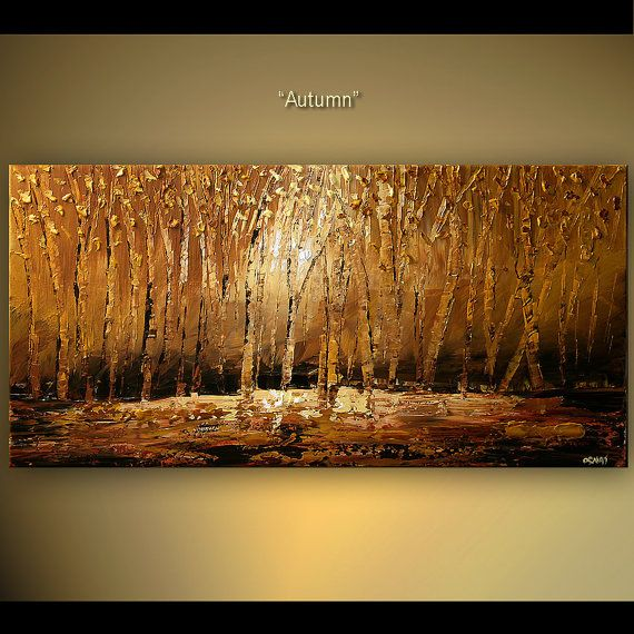 48 X 24 Blooming Tree Painting Abstract Painting
