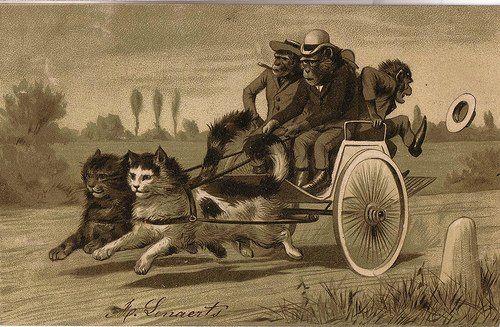 Котомания: милые и забавные старинные открытки - Ярмарка Мастеров - ручная работа, handmade