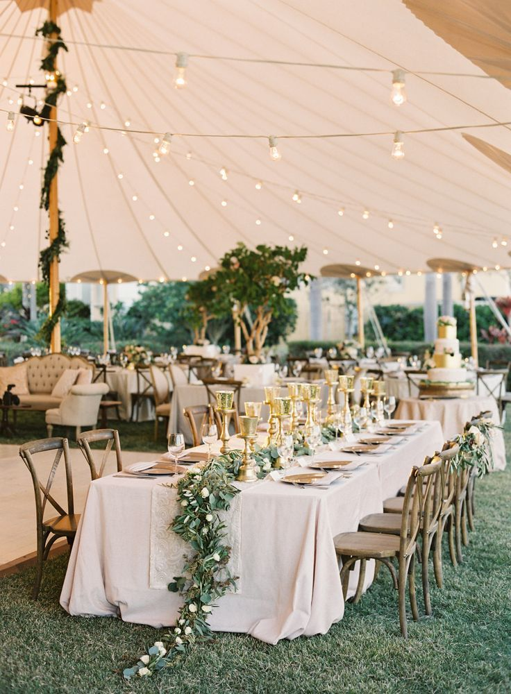 Breathtaking tented wedding reception: Photography : Justin DeMutiis Photography Read More on SMP: http://www.stylemepretty.com/2016/07/26/luxury-at-home-florida-wedding/