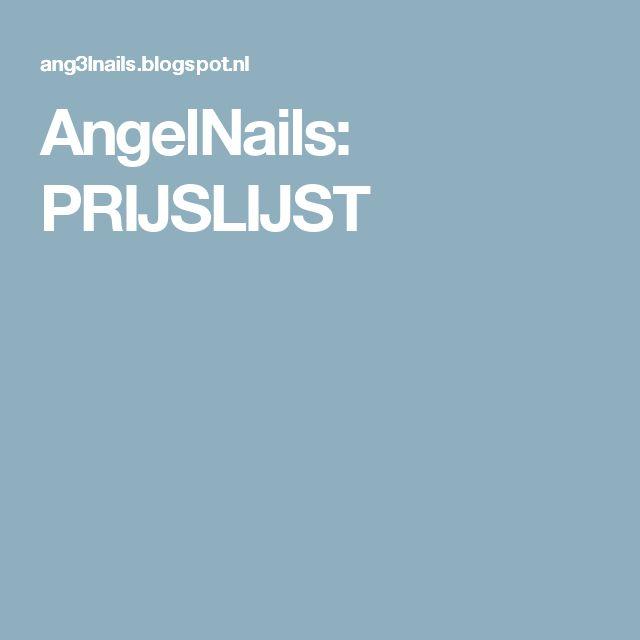 AngelNails: PRIJSLIJST