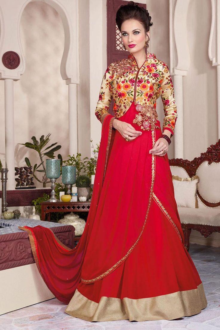 Maroon Georgette Embroidered Designer Salwar Suit-3807
