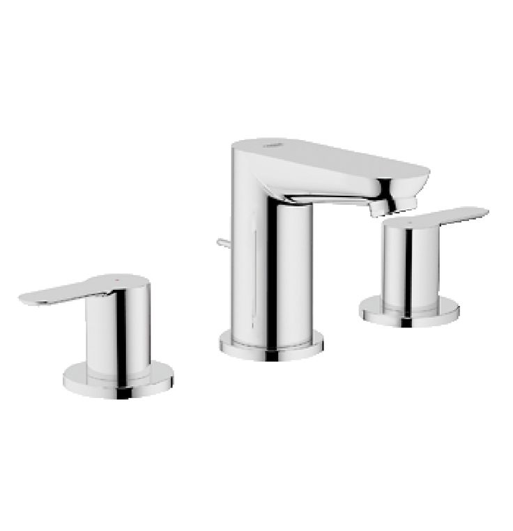 Grohe Bauedge 3 Hole Basin Mixer In Chrome Finish (20197000)