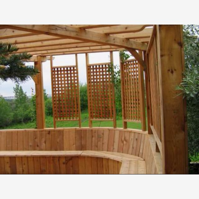 17 best images about pergola on pinterest deck pergola for Backyard privacy screens trellis