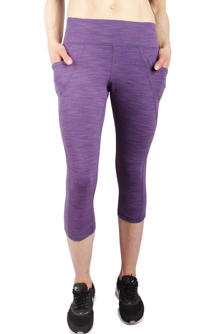 Jordyn Capri in Imperial Purple Stripe