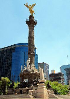 Angel of Independence Monument - Monumento a la Independencia, Paseo de la Reforma - Reform Promenade, Mexico City, Mexico