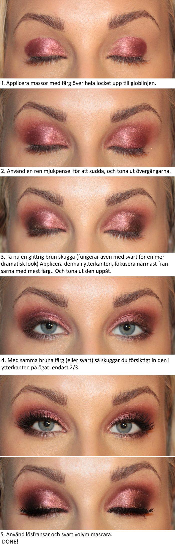 Makeup - Metallic cranberry (tutorial)