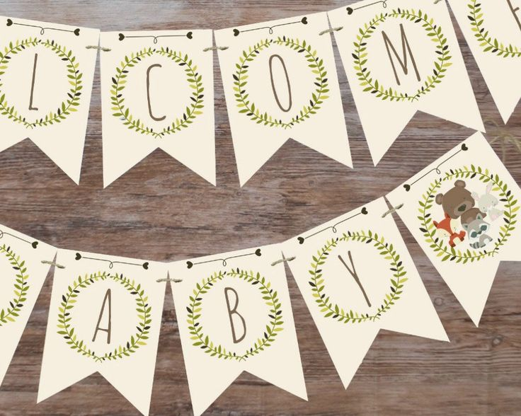 Woodland baby shower banner, welcome baby banner, printable banner, woodland baby shower decor, baby shower decorations by MagicPartyDesigns on Etsy https://www.etsy.com/listing/263757314/woodland-baby-shower-banner-welcome-baby