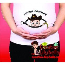 chandail de maternité cowboy 274