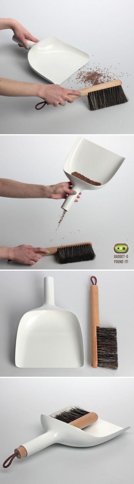 Sweeper and dustpan by Jan Kochański