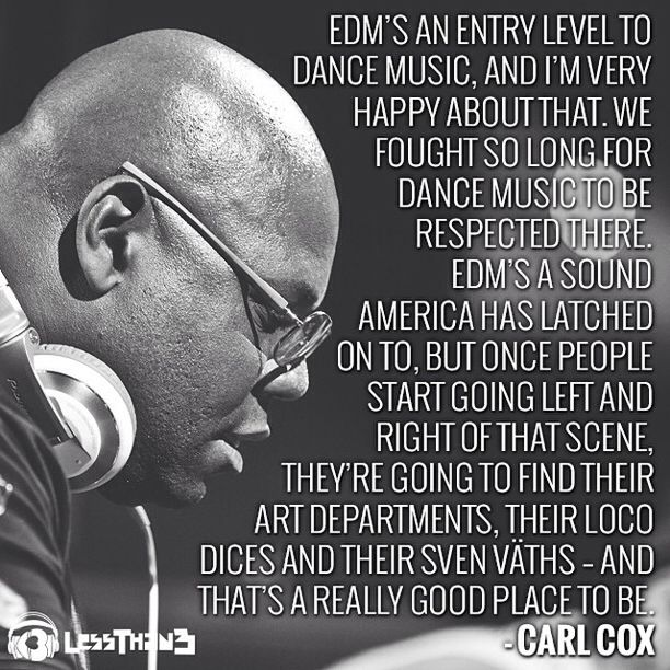 Veteran #Techno DJ #CarlCox and his thoughts on mainstream #EDM