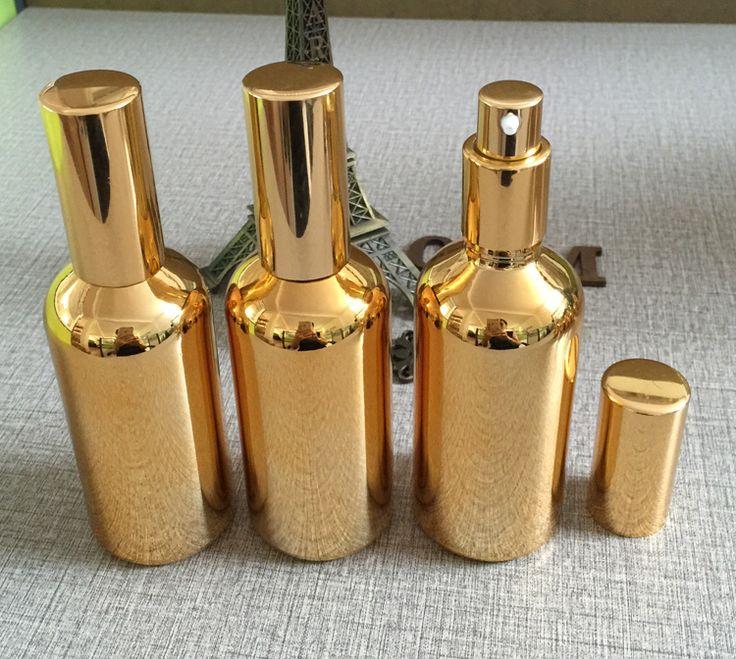 100ml golden high grade glass body lotion bottle wholesale ,100 ml glass spray pump bottles for lotion, custom lotion bottles-in Refillable Bottles from Beauty & Health on Aliexpress.com   Alibaba Group