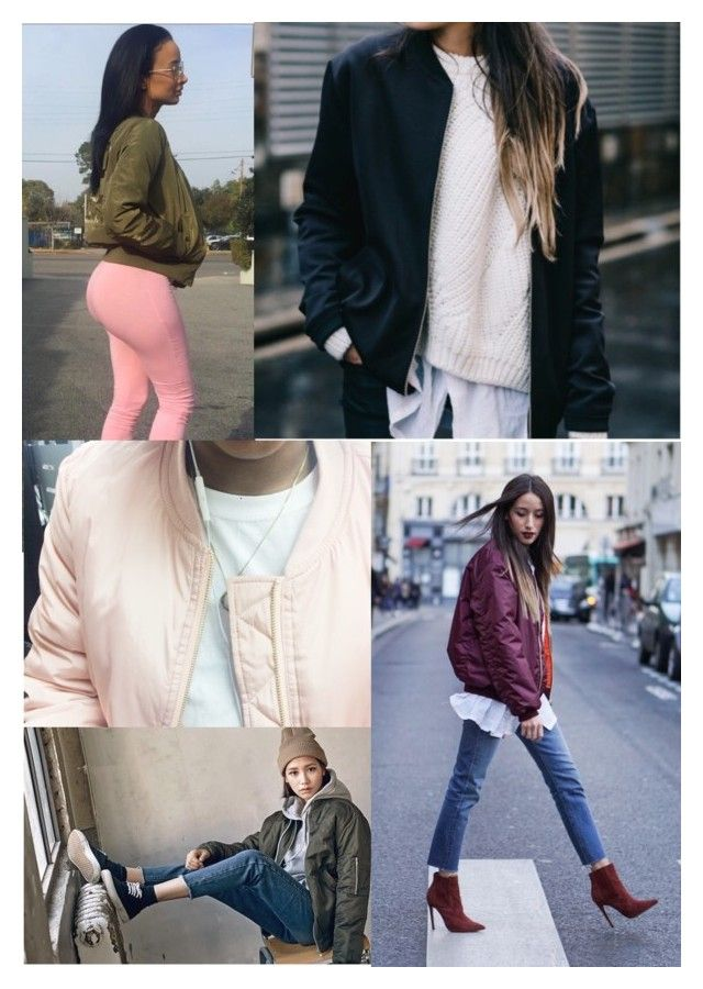 """""""#theBomber"""" by theclothesmind on Polyvore featuring women's clothing, women's fashion, women, female, woman, misses and juniors"""