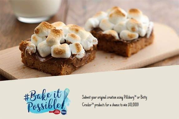 win delicious prizes from Betty Crocker  Submit your Pillsbury or Betty Crocker recipe for a chance to win $10,000!