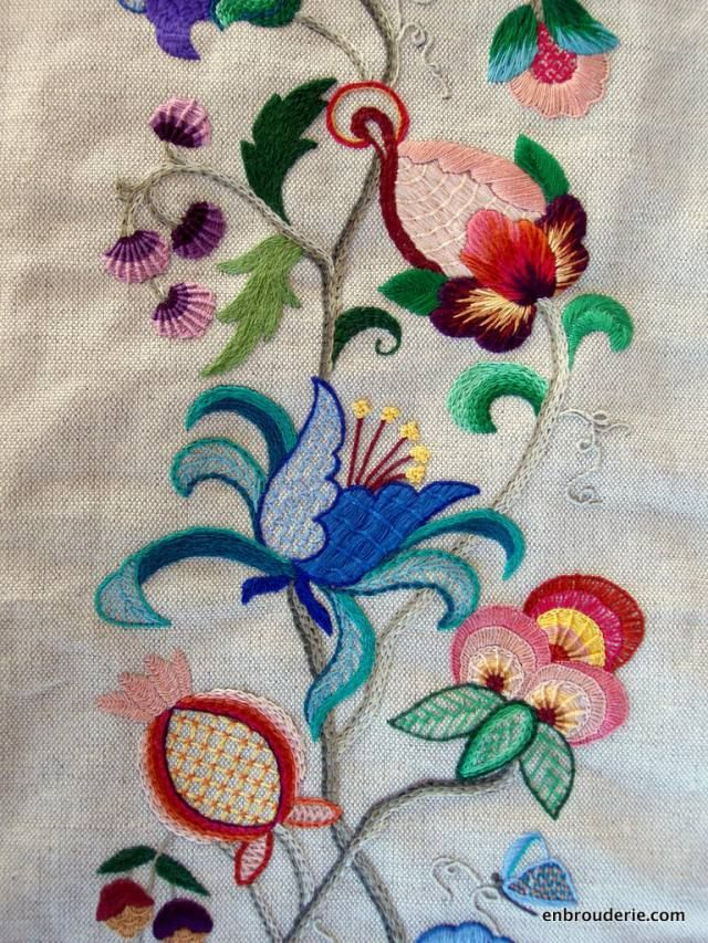 17 best images about crewel embroidery on pinterest