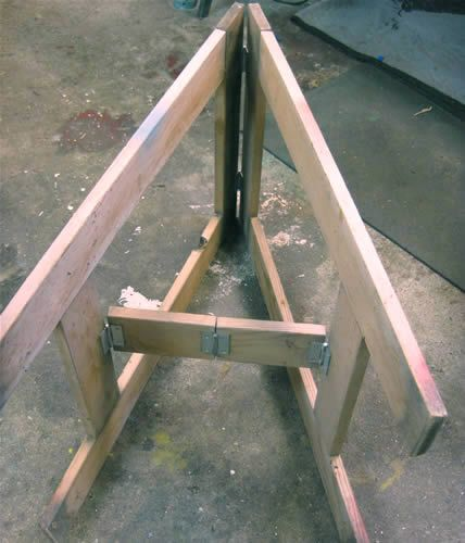 Cool sawhorses : Hamilton/Roberts Designs Woodworking : Fine Wood Boxes : Wall Shelves