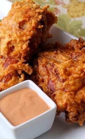 """Extra-Crispy Spicy Fried Chicken with """"Delta"""" Sauce"""