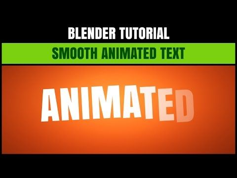 How to easily create a cool, smooth, 2D animated text