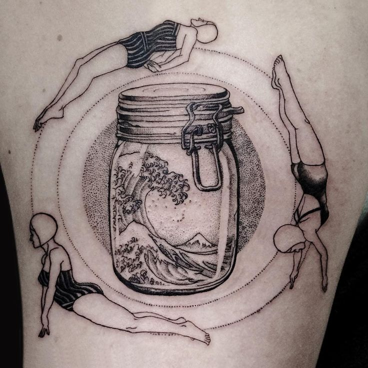 25+ Best Ideas About Bottle Tattoo On Pinterest