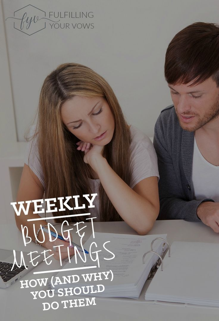 Come see how to have a weekly budget meeting and why you should.