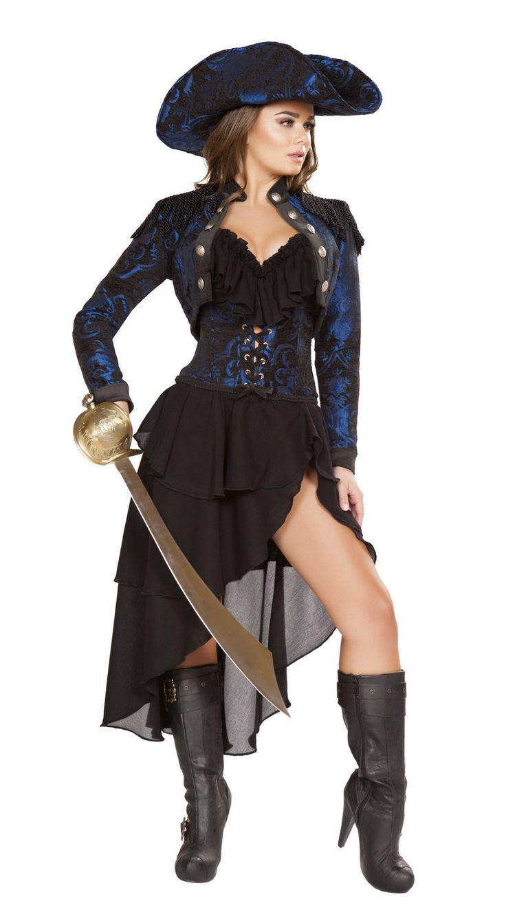 Pirate Captain Costume Roma 4652