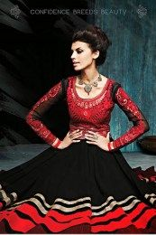 Perfect  Black & Red Bridal Wear
