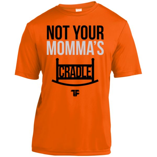 PREMIUM ORANGE TECH FALL ADULT WRESTLING SHIRT When you lock in your grip and your opponents knees touch his chin, they know that is not the cradle they grew up