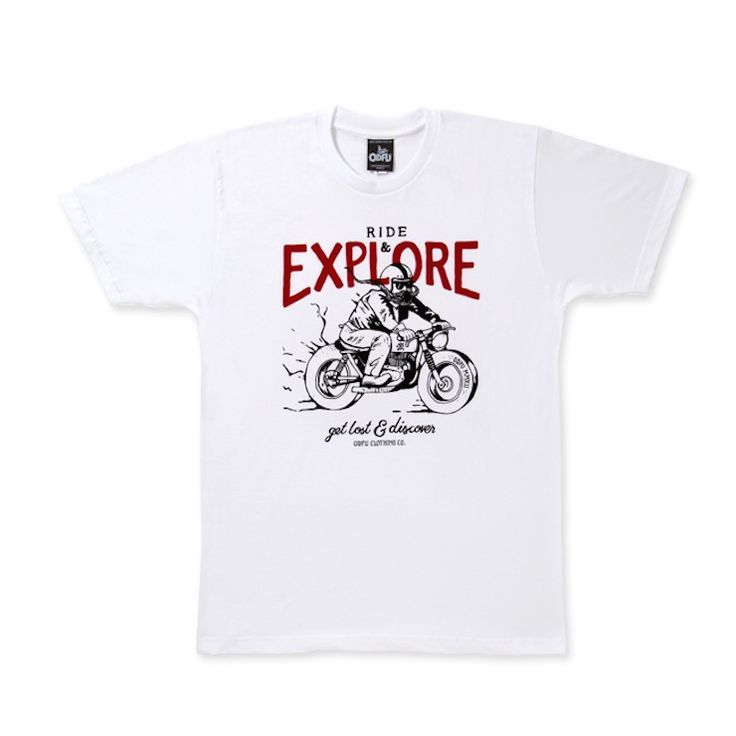 "Limited edition ""Ride & Explore"" Tee by ODFU."
