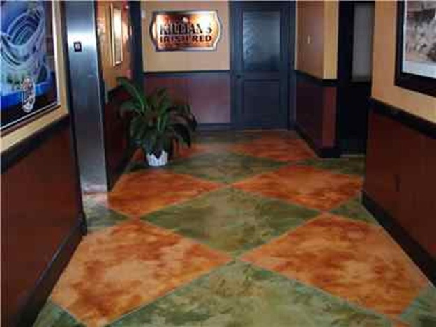 stained concrete living room 17 best images about cement floor painting on 15080