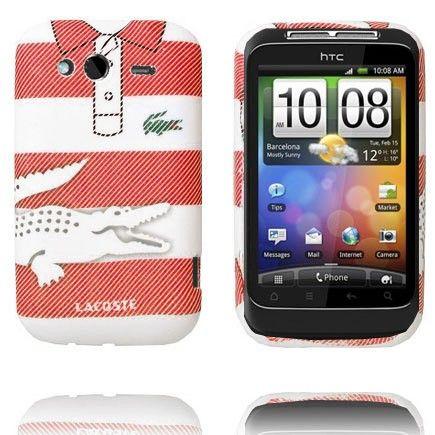 Croco Shirt (Stor Stripe - Rød Hvid) HTC Wildfire S Cover