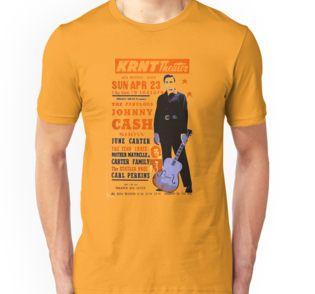 Johnny Cash live concert - Posters and Prints - #RedBubble #Art #Vintage #Retro #JohnnyCash #Rock #TShirt #Clothing