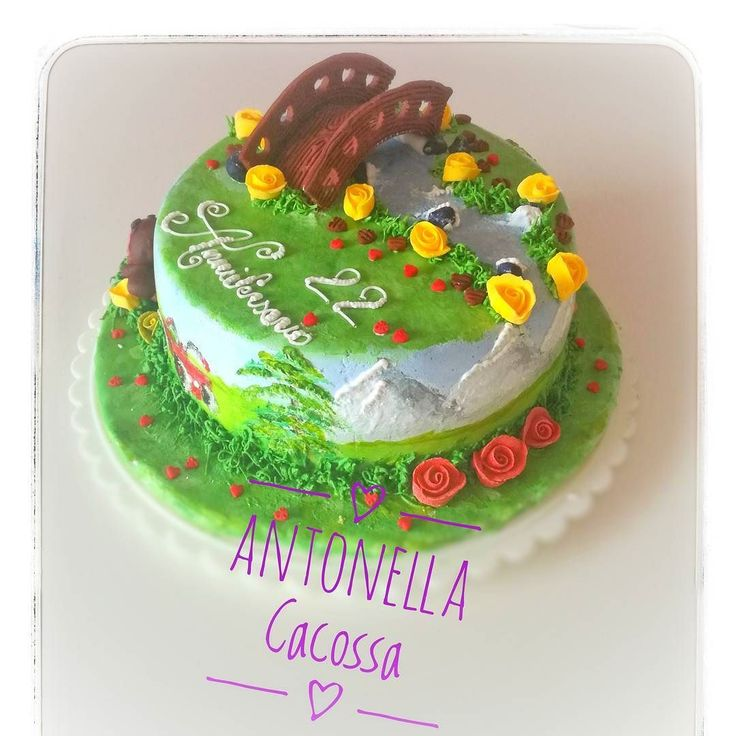 Torta montagna con ruscello e scoiattolo Mountain cake with brook and squirrel #Mountaincakewithbrookandsquirrel #mountainscake #brookcake #squirrelcake #Mountaincakes #cake #cakedesign #artist #paintingcake #painting #royalicingroses #royalicing