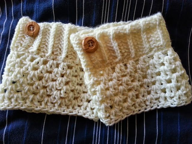 Free boot cuff pattern on my blog. Also available for purchase from my Etsy shop.  http://www.etsy.com/shop/crochetfromj