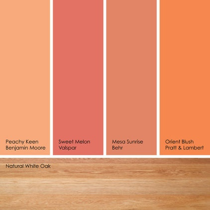 Suggested orange paint picksif you like soft orange hues for Suggested colors for kitchens