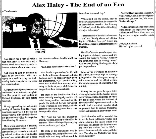 Biography makes case for legacy of 'Roots' author Alex Haley