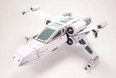 Star Wars - T-65 X-wing Starfighter Custom Free Papercraft Download