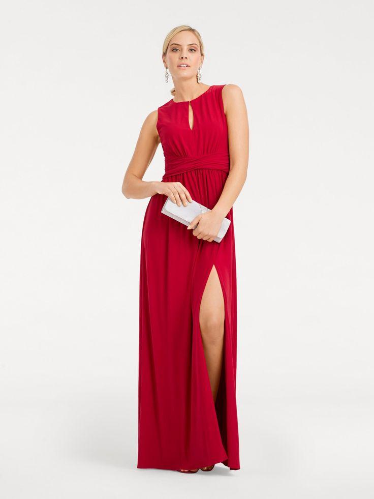 Heine Abendkleid hoch geschlitzt Damen, Rot, Größe 38 ...