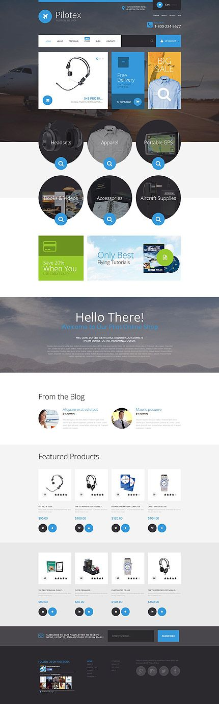 Pilot Online Shop #WooCommerce #template. #themes #business #responsive