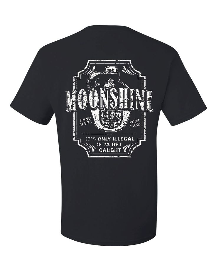 Moonshine Tennessee Whiskey T-Shirt Smoky Mountain Tee Shirt Black XL. High Quality Print.
