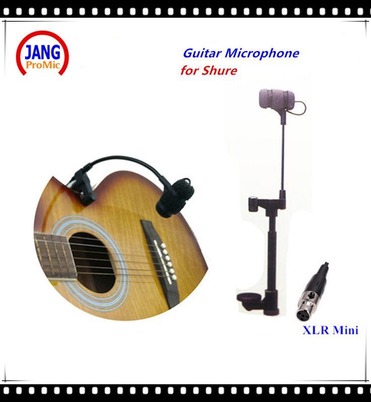 Professional Music Instruments Guitar Microphone Condenser Lapela Microfone for Shure Wireless Transmitter XLR Mini Mikrofon