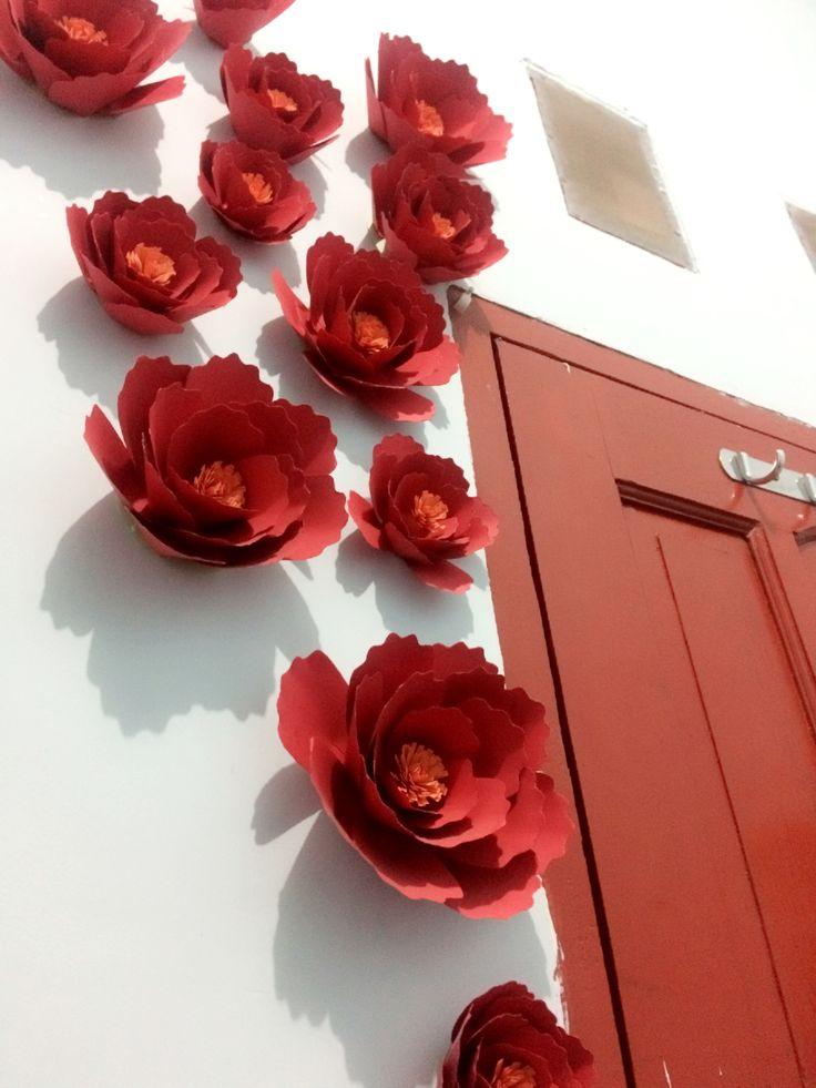 25 ide terbaik Bunga kertas di Pinterest