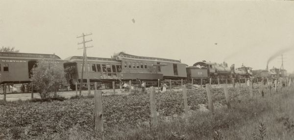 A collision of a freight train with an excursion train on the Chicago and North Western Railway, resulting in six deaths and at least 46 people injured.