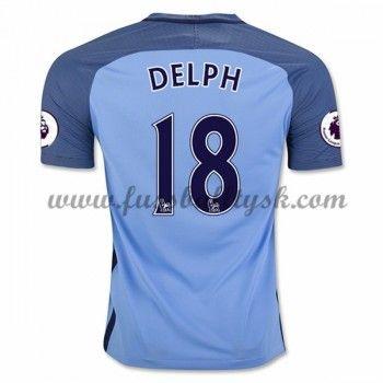 Premier League Fussball Trikots Manchester City 2016-17 Delph 18 Heimtrikot Kurzarm